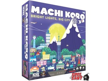Javascript är inaktiverat. - Norrtälje - You've done a great job as Mayor! Machi Koro: Bright Lights, Big City shows how popular Machi Koro has become! What started as a sleepy town of cheese factories and wheat fields has become a hot tourist destination! Explore the night life of  - Norrtälje