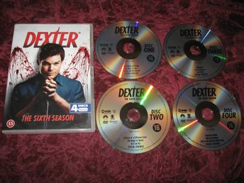 DEXTER SÄSONG 6 (MICHAEL C. HALL,JENNIFER CARPENTER) 4-DISC DVD
