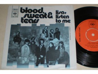 Blood Sweat and Tears 45/PS Lisa listen to me 1971 VG++ Promo