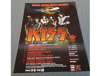 KISS SONIC BOOM OVER EUROPE 2013 PHOTO POSTER