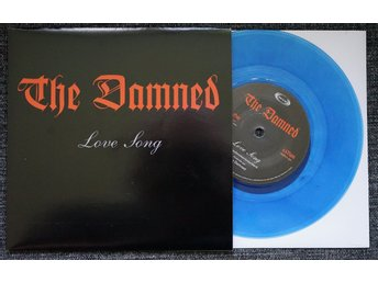 "damned ""love song/wait for the blackout"" (""7, blue vinyl, PS) mint"