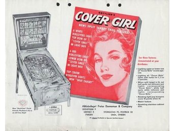 Original flyer Gottlieb COVER GIRL