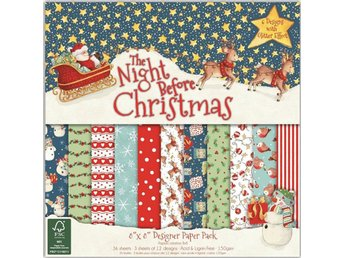 Scrapbooking papper 20 x 20 - The night before Christmas - 12 ark