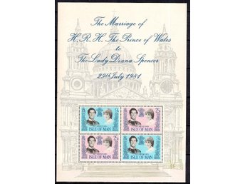 Isle of Man 1981 Royal Wedding block postfriskt