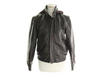 Wilsons Leather, Skinnjacka, Strl: 36, Svart/Brun, Skinn