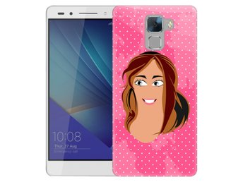Huawei Honor 7 Skal Flicka Rosa