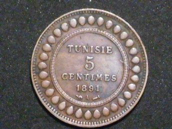 TUNISIEN 5 CENTIMES 1891 A