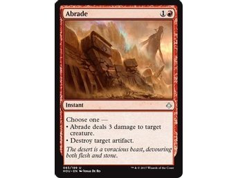 MtG, Abrade, Hour of Devastation