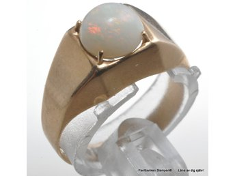 Ring med opal 18k 2,5gr Ø17,80mm