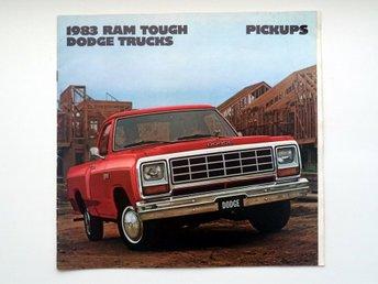 Broschyr 1983 Dodge Ram Tough Trucks - försäljnings katalog - catalogue - Farsta - Broschyr 1983 Dodge Ram Tough Trucks - försäljnings katalog - catalogue - Farsta