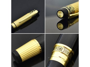 2 st  Black and Golden Luxury Diamond, Nib Fountain Pen 0.5mm ballpen