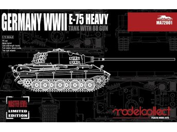 Modelcollect German Heavy Tank E-75 - 1/72 scale - plastic kit - nice!