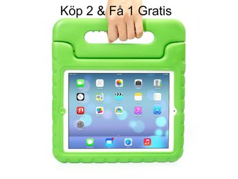 iPad Air 2/iPad 6  - Kids Shockproof Stand Case Cover/Kids Friendly Case - Grön