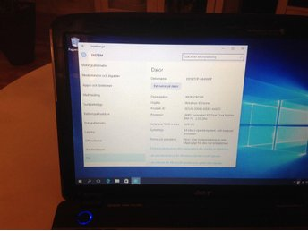 AcerAspire 5536, Windows 10, 4Gb Ram, 500Gb hårddisk, laddare