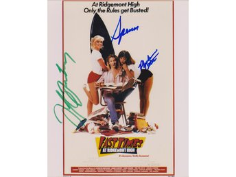 FAST TIMES AT RIDGEMONT HIGH SIGNED BY 3 PRE-PRINT AUTOGRAF PHOTOGRAPH FOTO