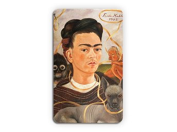 Frida Kahlo Self Portrait With Small Monkey Kylskåpsmagnet