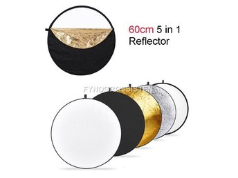 5 in 1 Photography Studio Collapsible Light Reflector 60cm F