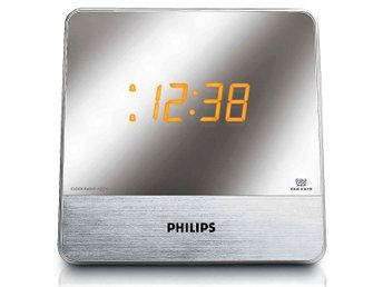 Klockradio Philips, dual alarm, Mirror finished display