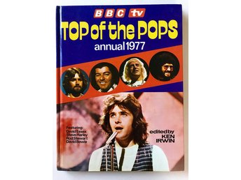 BBC TV TOP OF THE POPS ANNUAL 1977 Ken Irwin bla ABBA Bowie Rod Stewart mfl