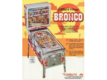 Original flyer Gottlieb BRONCO