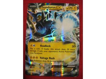 THUNDURUS EX - RARE HOLO - POKEMON HP 170 - 26/108