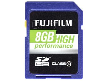 Fujifilm 8GB SDHC Kort High Performance / Class 10