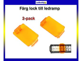 "Orange ""snap on"" färglock till ledramp 5x7cm 2-pack"