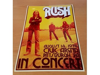 RUSH PITTSBURG 1974 PHOTO POSTER