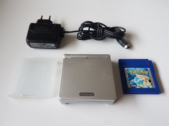 Nintendo Gameboy advance SP - AGS-001 + Pokemon blå
