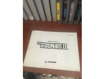 NES manual GOONIES 2