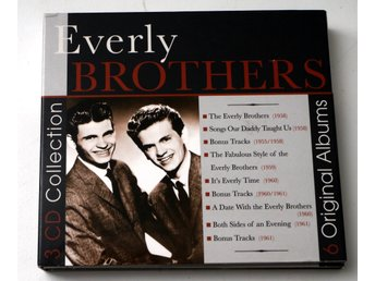 Everly Brothers  3 CD Collection 6 Original Albums pappersomslag