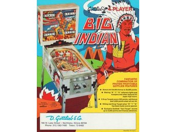 Original flyer Gottlieb BIG INDIAN
