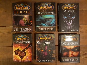 6 x World of Warcraft-böcker av Richard A. Knaak & Christie Golden, 2009-2012.