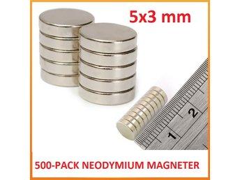 500-pack 5x3 mm Superstarka Neodymium Magneter - Magnet/ndfeb/neo/N35 - Hong Kong - 500-pack 5x3 mm Superstarka Neodymium Magneter - Magnet/ndfeb/neo/N35 - Hong Kong
