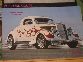 COLOROD Affischer Ford 1935 36 Chevrolet 64 Ford 1946 Hot Rod