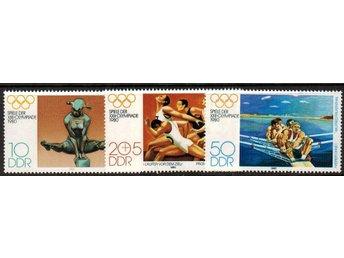 DDR Sommar OS i Moskva 3v.kpl/** 1980 - Nybro - DDR Sommar OS i Moskva 3v.kpl/** 1980 - Nybro