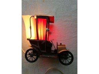 Belysning Växjö : Unik italensk retro ferrari bil bordslampa belysning på tradera