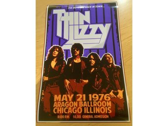 THIN LIZZY CHICAGO 1976 PHOTO POSTER