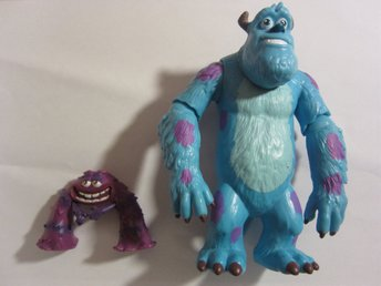Disney Pixar Monster University Inc. Sulley & Art plast figurer vintage leksaker