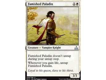 Famished Paladin MTG RIVALS OF IXALAN