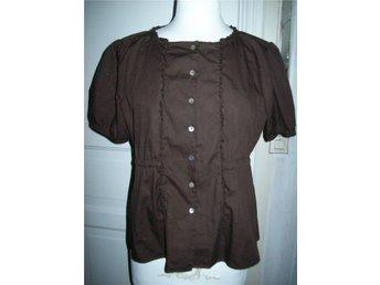 Oanvänd Odd Molly blus # 441 Rapunzel blouse,brown stl 4 - Kvissleby - Oanvänd Odd Molly blus # 441 Rapunzel blouse,brown stl 4 - Kvissleby