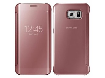 Samsung Galaxy S7 edge Clear View Rosa - flipcover flip cover skydd skal skydd - Nordmaling - Samsung Galaxy S7 edge Clear View Rosa - flipcover flip cover skydd skal skydd - Nordmaling