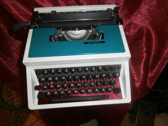 "VINTAGE  Blue/White ""OLIVETTI"" by Designer ETTORE SOTTSASS Made in Spain"