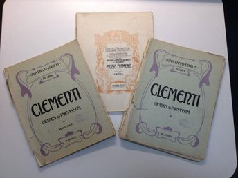 Piano - Muzio Clementi - Course of studies - 100+122+134 sidor