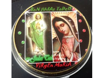 SAN JUDAS TADEO - VIRGIN MARIA . Guldöverdrag