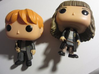 Harry Potter: figurer Hermione Granger & Ron Weasley Big Head Funko Pop 2 styck