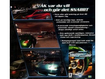 NEED FOR SPEED UNDERGROUND2 / spel till PC / JULKLAPP