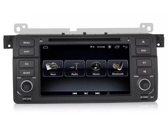"BMW 3serie E46 M3 Bluetooth bilstereo android 8.0 7"" touch, NY stereo"