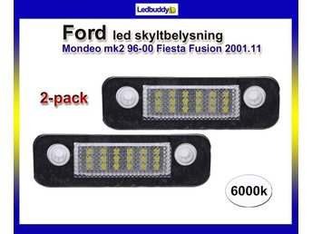 Ford Mondeo mk2 96-00 Fiesta Fusion 2001.11- Led skyltbelysning styling 6000k