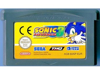 Sonic 3 för Game Boy Advance orginal spel kasett GBA